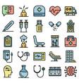 mental hospital icons set flat vector image vector image