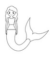 mermaid with curly hairstyle vector image