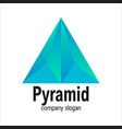 modern blue arrow geometric polygon triangle pyram vector image vector image