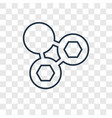 molecules concept linear icon isolated on vector image vector image