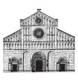 romanesque cathedral archiepiscopal cathedral at vector image vector image