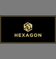 sa hexagon logo design inspiration vector image vector image