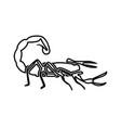 scorpion black color icon vector image vector image