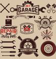 set car service labels vector image