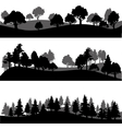 set different landscape with trees vector image vector image