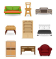 set icons furniture 02 vector image vector image
