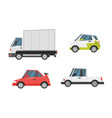 set of city transport vector image vector image