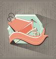 shopping bag retro style label vector image vector image