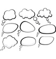 Speech clouds vector image vector image