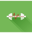 Sports heart rate flat icon vector image