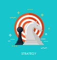 strategy flat conncept vector image vector image