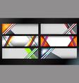 stripes banner design vector image vector image
