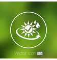 sun protection block icon sunblock skin isolated vector image