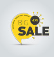 template round tags on leg for big sale vector image