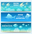 underwater scene banners vector image vector image