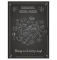 vintage breakfast lunch and dinner poster with vector image vector image