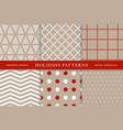 winter holidays seamless patterns vector image