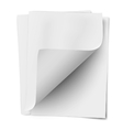 Stack of three empty white sheets vector image