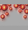3d chinese hanging lanterns vector image vector image