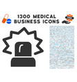 alarm icon with 1300 medical business icons vector image vector image