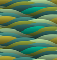 Background of abstract curled green waves vector image vector image