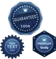 banners from denim set vector image vector image