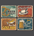 beer alcohol drink and snack food pub posters vector image vector image
