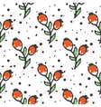 Berry tea seamless pattern Briar organic herbal vector image vector image