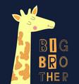 big brother slogan modern fashion vector image vector image