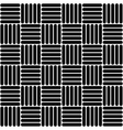 Black and white simple woven geo seamless pattern vector image vector image