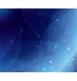 blue background - wavy and shiny vector image vector image