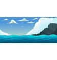 Blue sea with waves vector image vector image