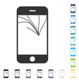broken smartphone screen icon vector image
