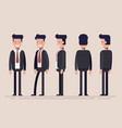 businessman or manager from different sides front vector image vector image