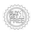 buy one get one free icon symbol design vector image