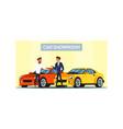 car showroom flat vector image vector image