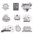 casino poker gambling game sketch icons vector image vector image