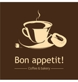 Coffee and bakery Beige and brown vector image
