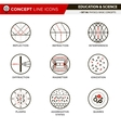 Concept Line Icons Set 6 Physics vector image vector image