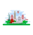Concept of travel or studying English vector image vector image