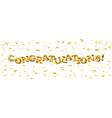 congratulation gold balloons text decoration party vector image vector image
