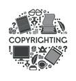 copywriting isolated icon creative writing vector image