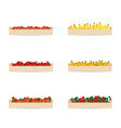 crates for fruits set vector image