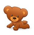 cute cuddly fuzzy brown teddy bear crawling vector image vector image