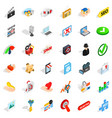 cyber protection icons set isometric style vector image vector image