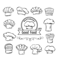 Decorative chef toques vector image