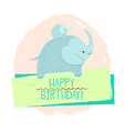 elephant element of card vector image vector image