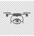 Eye Spy Drone Grainy Texture Icon vector image vector image