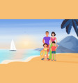 family people on summer sea beach vacation mother vector image vector image