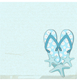 flip flops and starfish vector image vector image